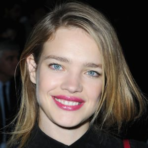 Natalia Vodianova Hot Pink Lips 300x300 - Super Top Model Natalia Vodianova Red Blouse