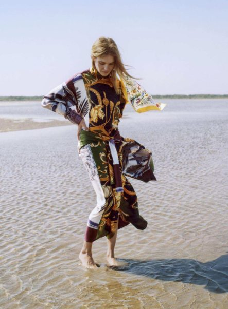 Natalia Vodianova On the Beach
