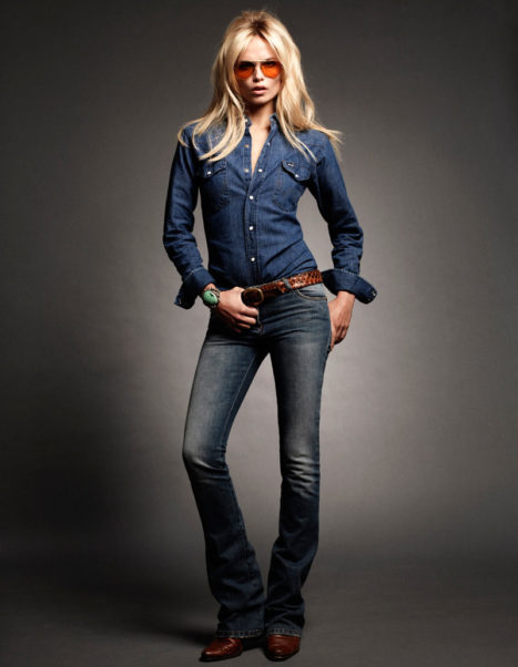 Natasha Poly Hot Model Jeans Pose