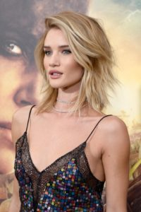 Rosie Huntington Whiteley Hot Blouse 200x300 - Rosie Huntington Whiteley Nice Blue Dress