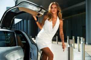 Rosie Huntington Whiteley Hot White Dress Modeling 300x200 - Rosie Huntington Whiteley Hot Pose In The Pool