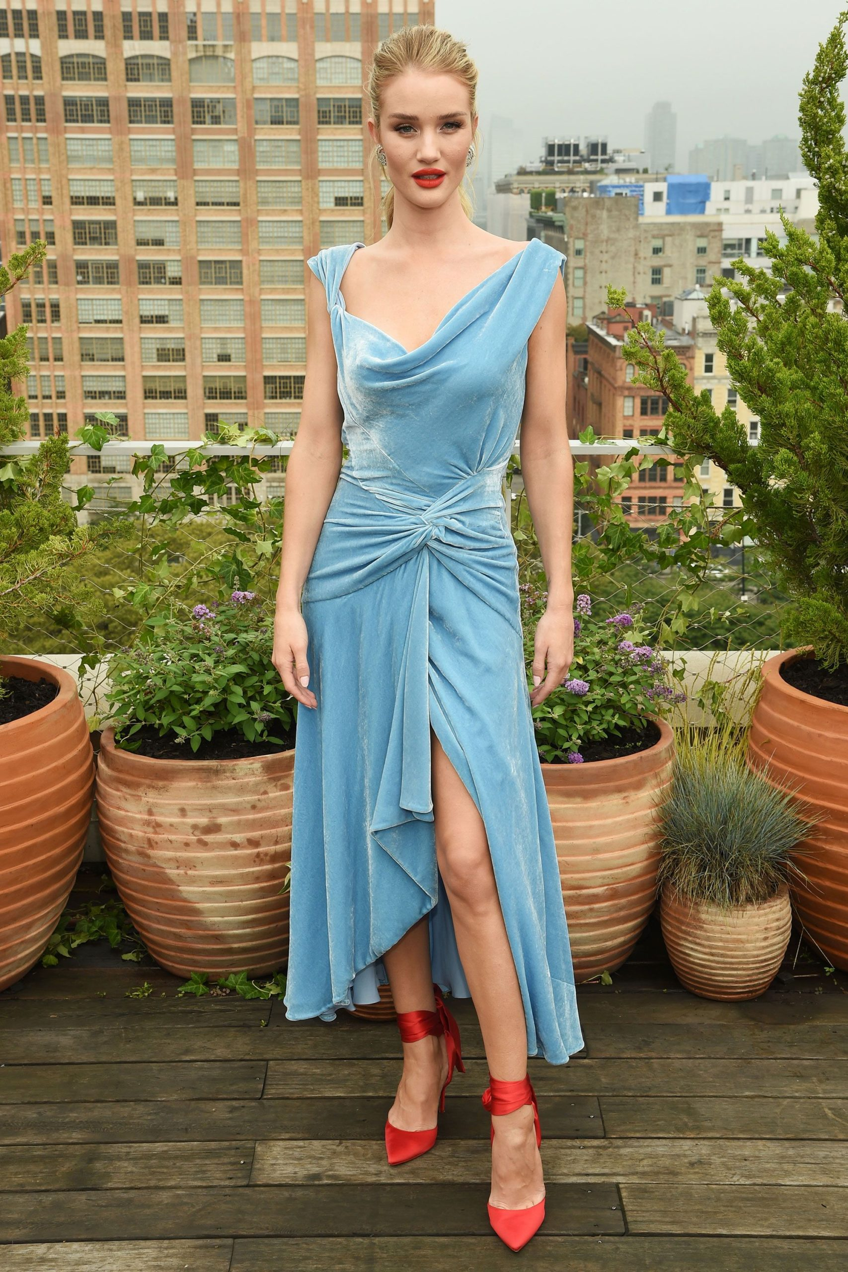 Rosie Huntington Whiteley Nice Blue Dress scaled - Rosie Huntington Whiteley Nice Blue Dress