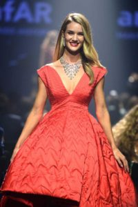 Rosie Huntington Whiteley Red Dress Modeling 200x300 - Rosie Huntington Whiteley Super Hot Revealing Jacket