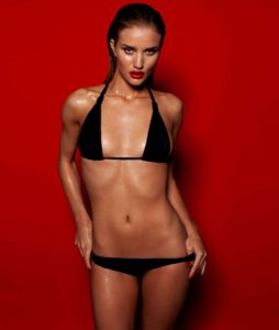 Rosie Huntington Whiteley Super Hot Bikini Images 254x300 - Rosie Huntington Whiteley Hot Red Lips