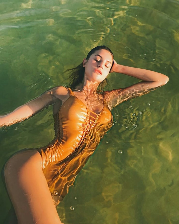 Silvia Caruso Awesome Yellow Swimwear - Silvia Caruso Net Worth, Pics, Wallpapers, Career and Biography