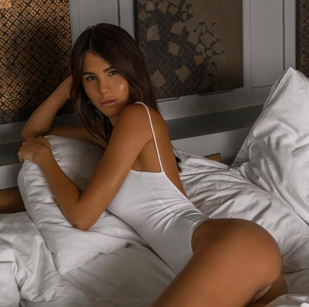 Silvia Caruso Hot Posing On The Bed