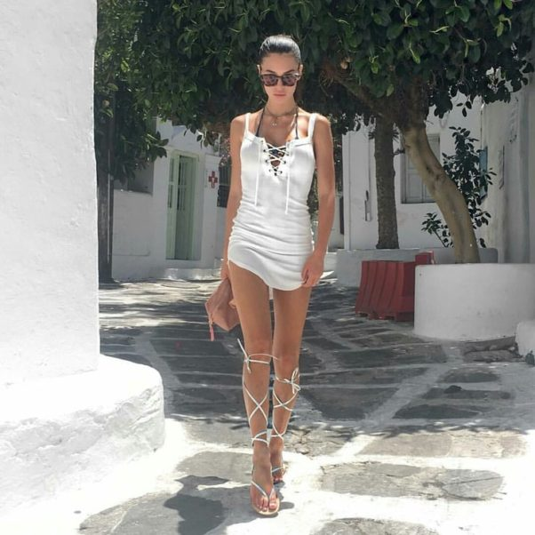 Silvia Caruso Hot White Dress