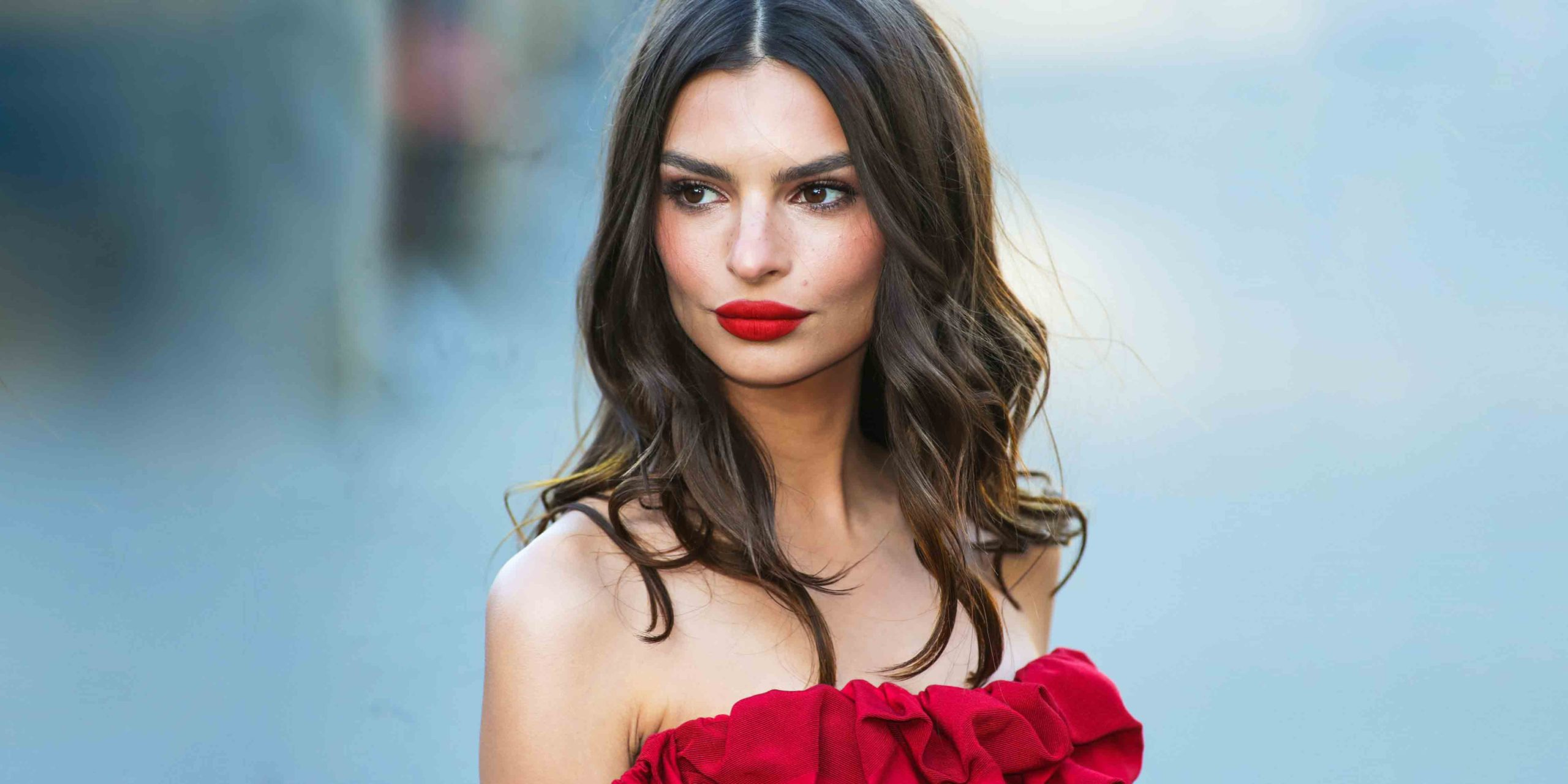 Top Model Emily Ratajkowski Red Dress scaled - Emily Ratajkowski Net Worth, Pics, Wallpapers, Career and Biography
