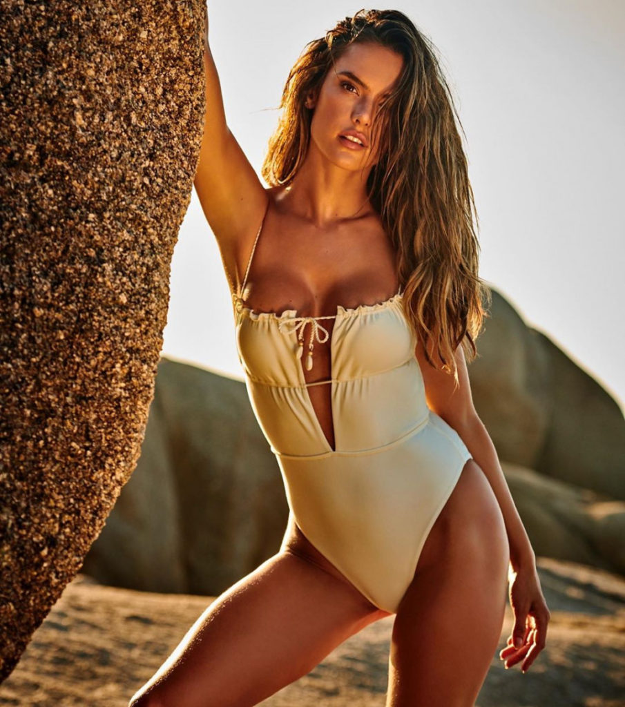 Alessandra Ambrosio Deep Revealing Swimsuit 905x1024 - Alessandra Ambrosio Net Worth, Pics, Wallpapers, Career and Biography