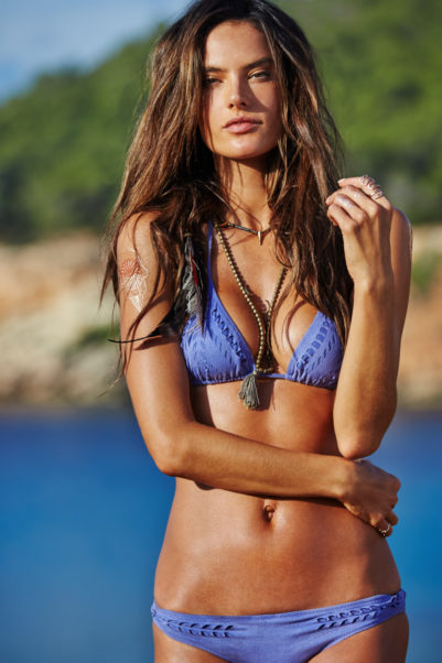 Alessandra Ambrosio Hot Purple Bikini