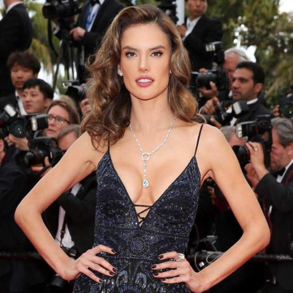 Alessandra Ambrosio Hot Revealing Gala Dress