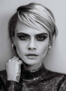Black White Photo Cara Delevingne 216x300 - Hot Top Model Cara Delevingne
