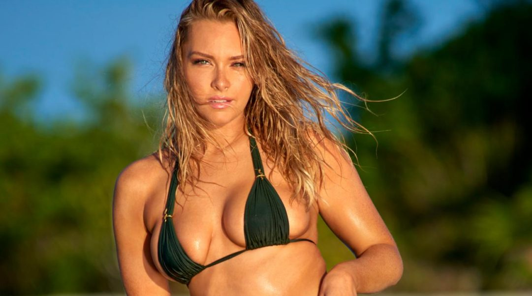 Camille Kostek Hot Green Bikini