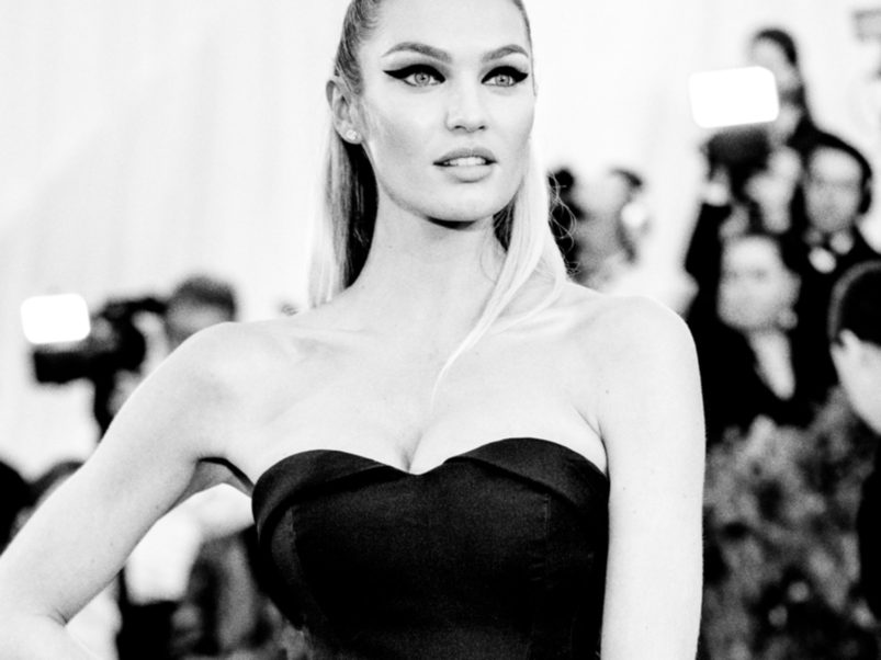 Candice Swanepoel Black & White Photo