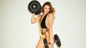 Candice Swanepoel Fitness Pic 300x169 - Candice Swanepoel Nice Dress