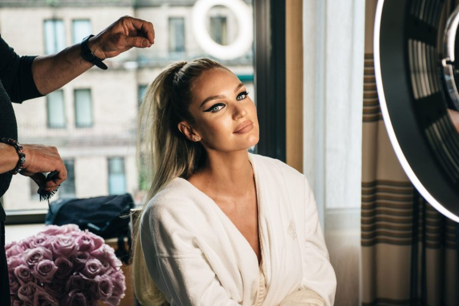 Candice Swanepoel Hairdressing Pic