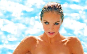 Candice Swanepoel Hot Top Model Pics 300x188 - Candice Swanepoel Hot Blue Bikini Pose