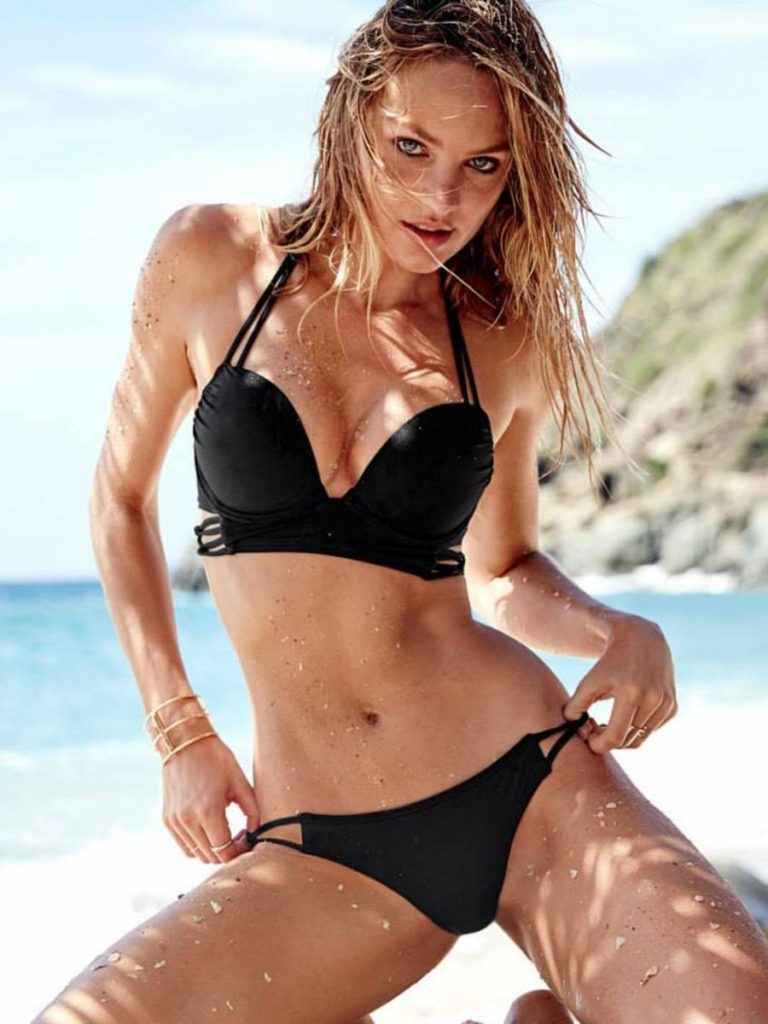 Candice Swanepoel Super Hot Black Bikini Pictures 768x1024 - Candice Swanepoel Net Worth, Pics, Wallpapers, Career and Biography