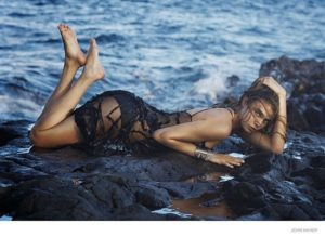 Cara Delevingne Hot Posing By The Sea 300x219 - Cara Delevingne Red Lips Pics