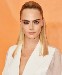 Cara Delevingne Revealing White Dress 250x300 - Cara Delevingne Red Lips Pics