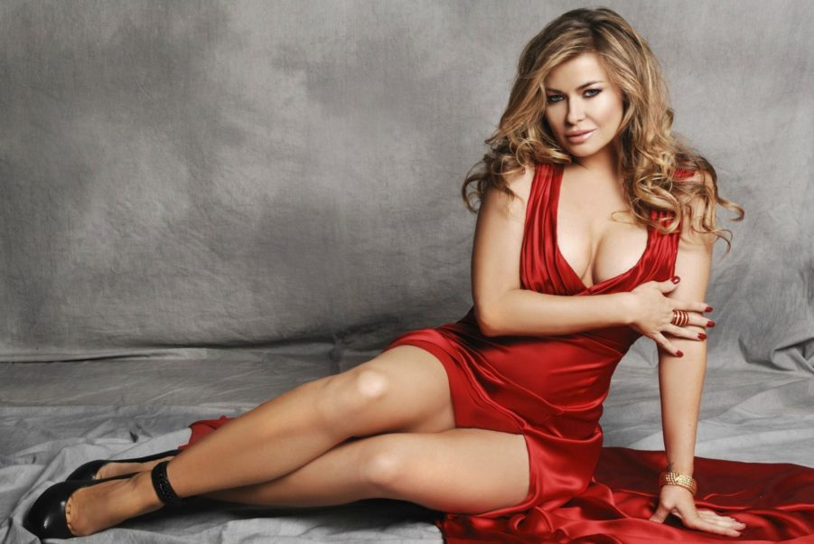 Carmen Electra Hot Red Dress Pose