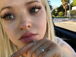Dove Cameron Awesome Green Eyes 300x225 - Dove Cameron Hot Red Lips