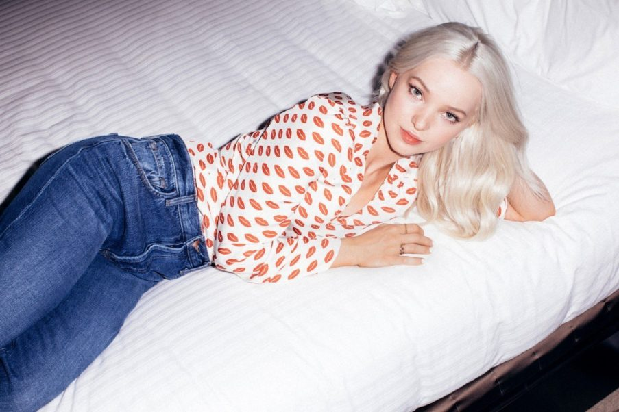 Dove Cameron Jeans Posing On The Bed