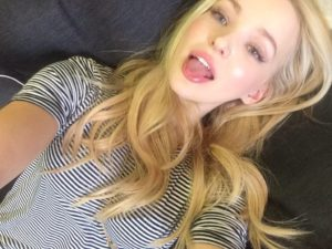 Dove Cameron Tongue Pics 300x225 - Dove Cameron Hot Red Lips