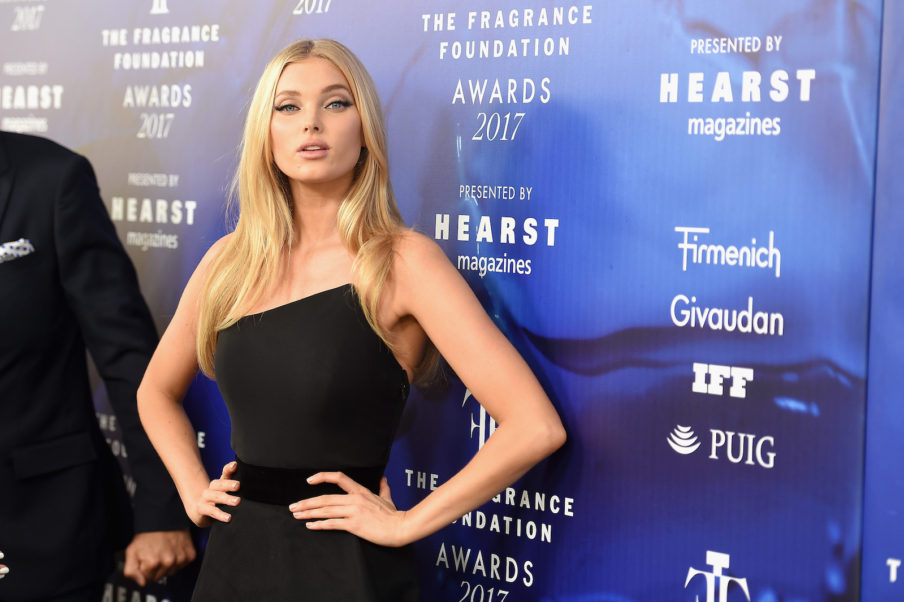 Elsa Hosk Hot Black Gala Dress