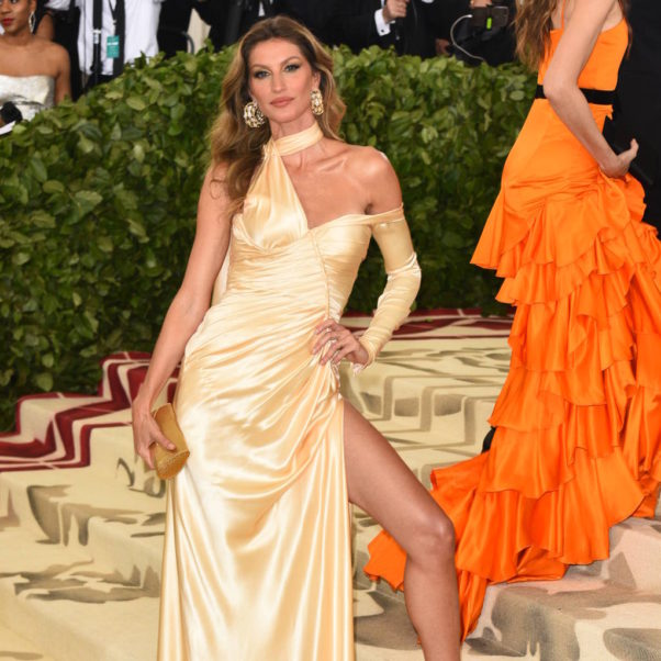 Gisele Bündchen Hot Yellow Gala Dress