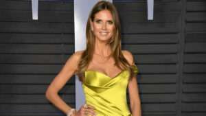 Heidi Klum Hot Yellow Dress 300x169 - Heidi Klum Black & White Face Pics