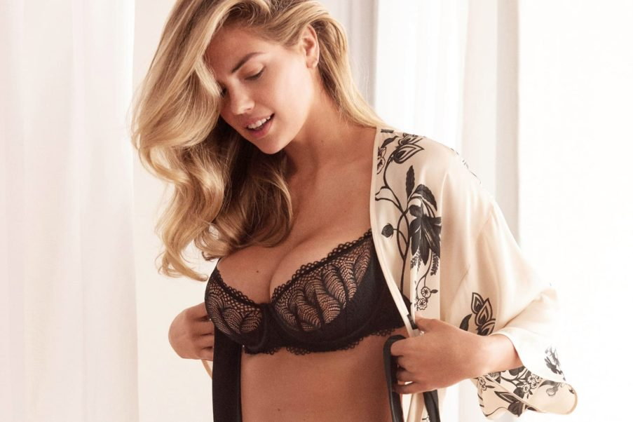 Kate Upton Hot Black Bra Pics