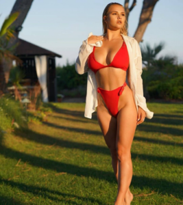 Kinsey Wolanski Hot Red Bikini Outside Pose 267x300 - Kinsey Wolanski Images