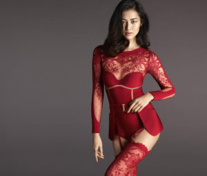 Lie Wen Hot Red Lingerie 300x255 - Lie Wen Outside Images