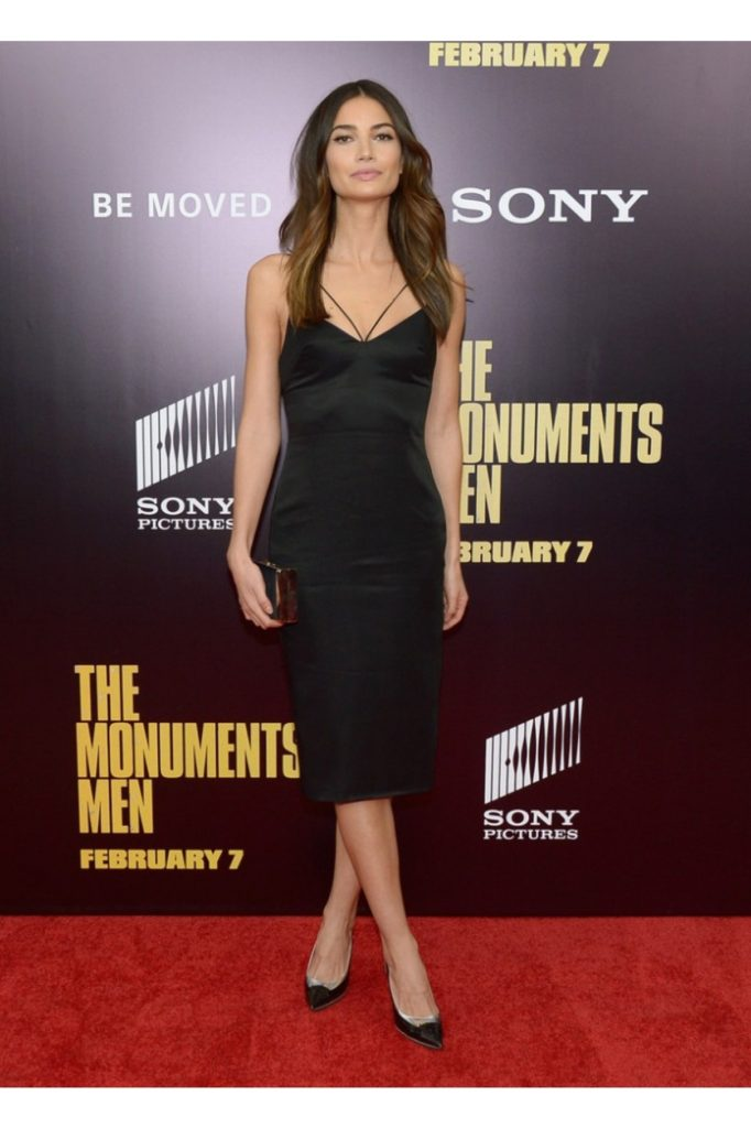 Lily Aldridge Black Gala Dress 682x1024 - Lily Aldridge Black Gala Dress