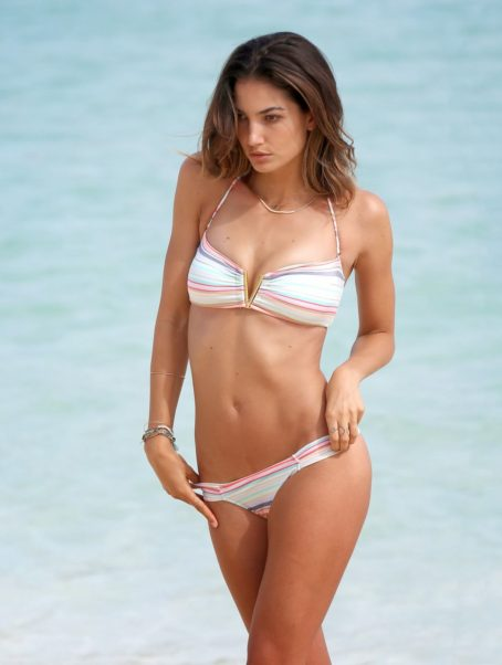 Lily Aldridge Hot White Bikini