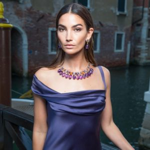 Lily Aldridge Purple Dress 300x300 - Lily Aldridge Beautiful Face