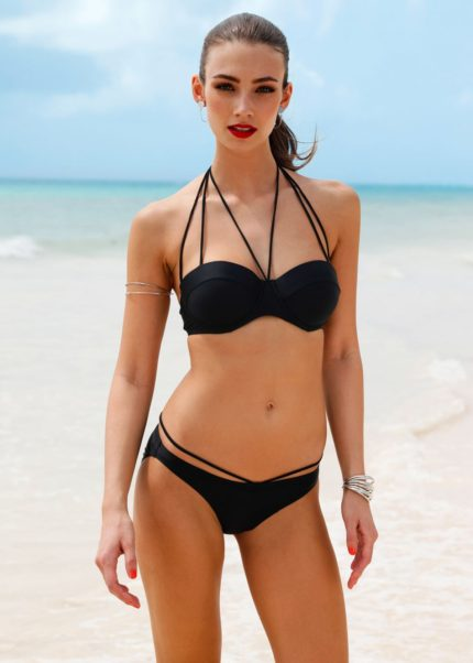 Lorena Rae Hot Black Bikini By The Sea