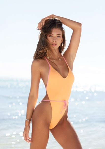 Lorena Rae Hot Yellow Swimsuit