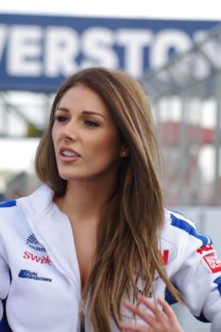Lucy Pinder Car Racing Suit Pic