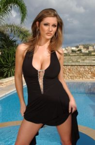 Lucy Pinder Swimsuit Outdoors 196x300 - Lucy Pinder Amazing Bra Image