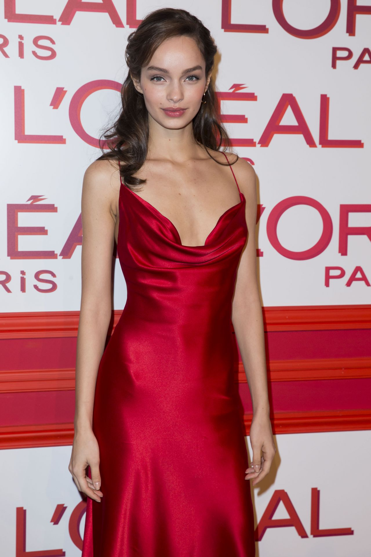 Luma Grothe Hot Revealing Red Dress - Luma Grothe Hot Revealing Red Dress
