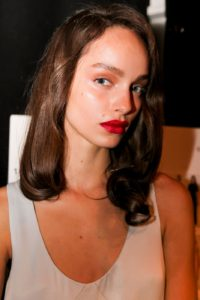 Luma Grothe Red Hot Lips 200x300 - Luma Grothe Hot Revealing Red Dress