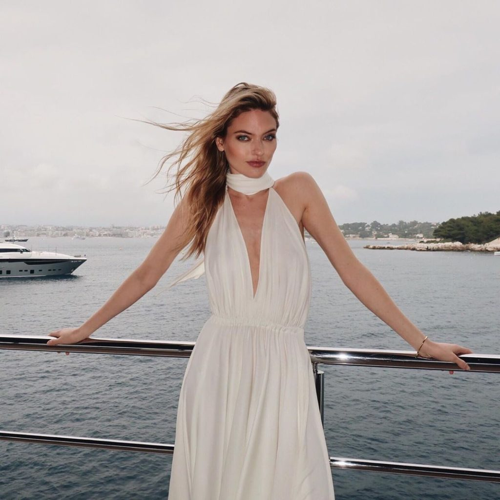 Martha Hunt Deep Revealing White Dress 1024x1024 - Martha Hunt Deep Revealing White Dress