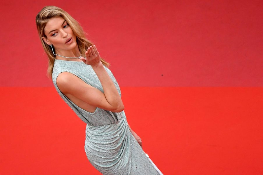 Martha Hunt Hot Model On Red Carpet