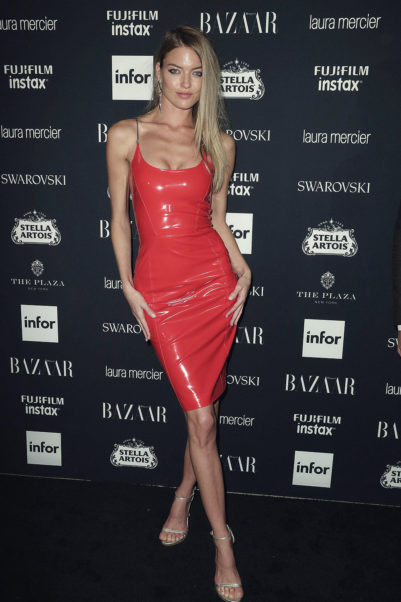 Martha Hunt Hot Red Dress Photo