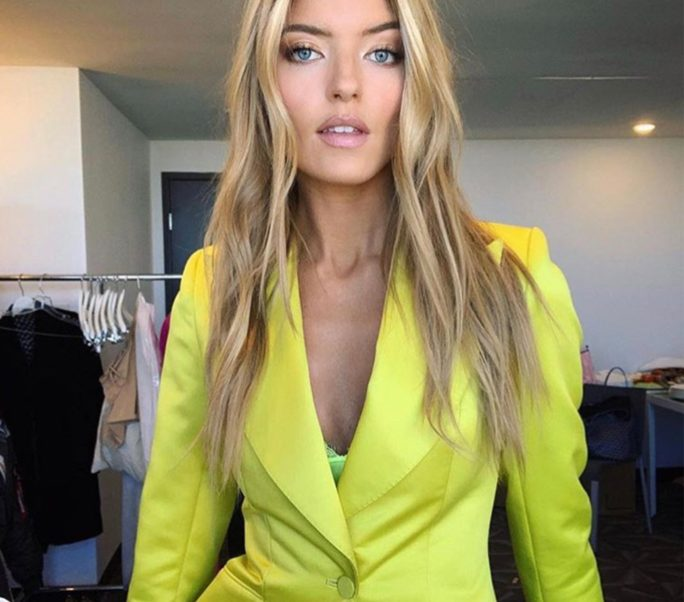 Martha Hunt Hot Yellow Jacket
