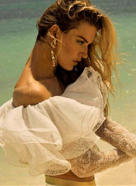 Martha Hunt Top Modeling By The Sea