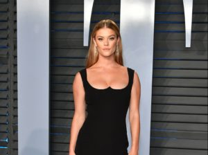 Nina Agdal Hot Revealing Black Dress 300x224 - Nina Agdal Underwear Posing