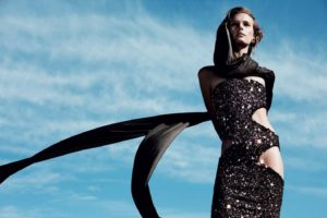 Sigrid Agren Hot Black Dress Outdoors 300x200 - Top Modeling Sigrid Agren Images